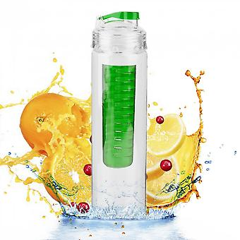 800ml Portable Size Cycling Sport Fruit Infusing Infuser Water Lemon Cup