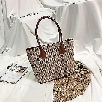 Stílusos kézzel kötött rattan nyári táskák((30cm<max Length<50cm))(Khaki2)
