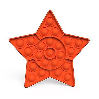 Pop it fidget sensorische Spielzeug Linderung für Stress und Angst (P - Orange)