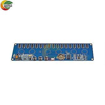 Stm8s005 kontrol dc 12v 1a elektronisk in14 nixie tube digital led ur gave kredsløbskredsløbskort pcba rgb