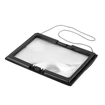 A4 Helsides forstørrelsesglass 3x sammenleggbart glass