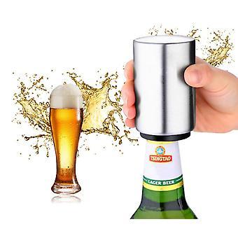 Automatisk ölflaskaöppnare, kreativ rostfri flaskor öppnare