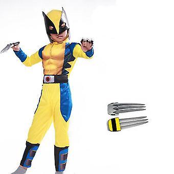 Wolverine Cosplay kostým těsný svalový oblek Fancy Party X-men