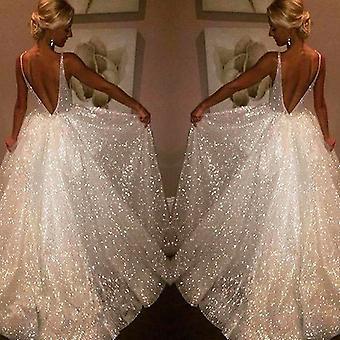 Tři vrstvy Backless šaty krajka hluboký výstřih do V Mořská panna Svatební šaty Nevěsta