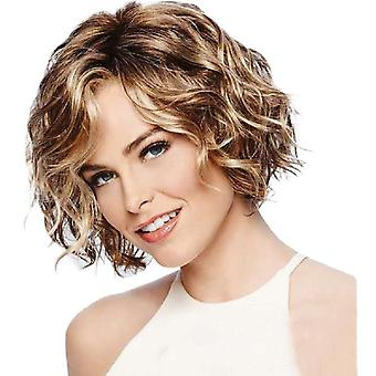 Brand Mall Wigs, Lace Wigs, Realistic Slanted Bangs And Fluffy Short Curly Hair