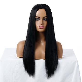 ब्रांड मॉल विग, लेस विग, यथार्थवादी शराबी लंबे बाल सीधे बाल व्यक्तित्व विग