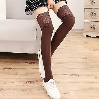 Frauen Oberschenkelhoch über dem Knie Trim Strümpfe Häkeln Socken Leggings