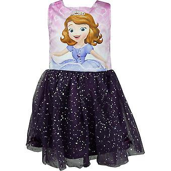 Chicas Disney Princesa Sofía el primer vestido sin mangas de terciopelo de lujo