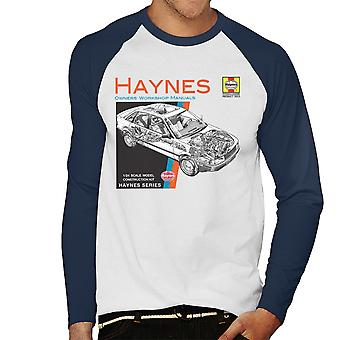 Haynes Owners Workshop Manual 1491 Audi 80 90 Men's Baseball Long Sleeved T-Shirt