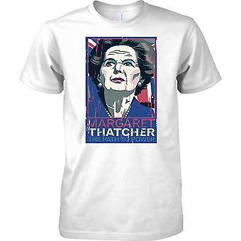 Margaret Thatcher - camino de poder - para hombre T Shirt