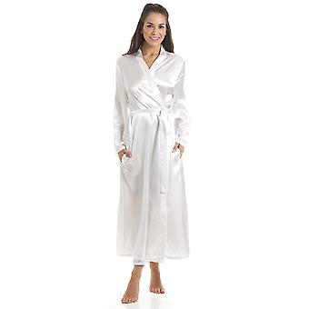 Camille Womens crème luxe Satin robe