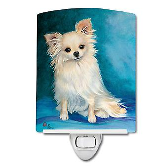 Carolines Treasures  MH1040CNL Jazz Chihuahua Long Hair  Ceramic Night Light