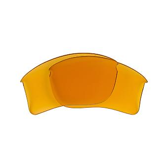 Polarized Replacement Lenses for Oakley Flak Jacket Sunglass Yellow Anti-Scratch Anti-Glare UV400 by SeekOptics