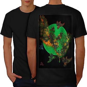Bird Freedom Life Men BlackT-shirt Back | Wellcoda