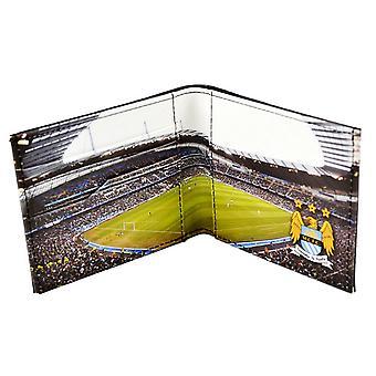 Manchester City FC Herre officielle fodbold stadion læder tegnebog