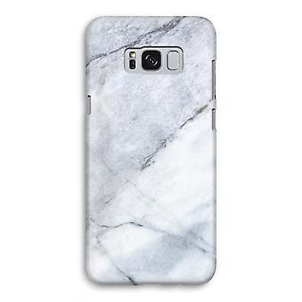 Samsung Galaxy S8 volledige Print Case (Glossy) - marmer Wit