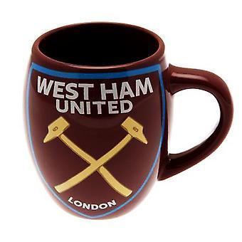West Ham FC Official Ceramic Football Crest Tea Mug