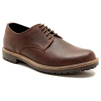 Red Tape Risley Mens Wood Brown Leather Gibson Shoes