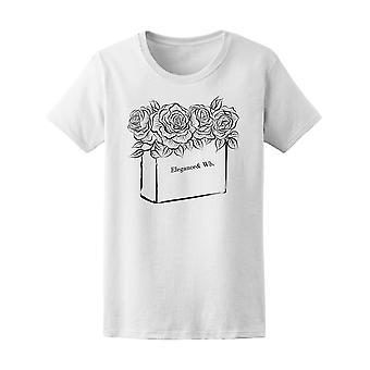Eleganse & Wb. blomster Tee kvinner-bilde av Shutterstock