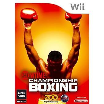 Showtime Championship Boxing (Wii) - Nouveau