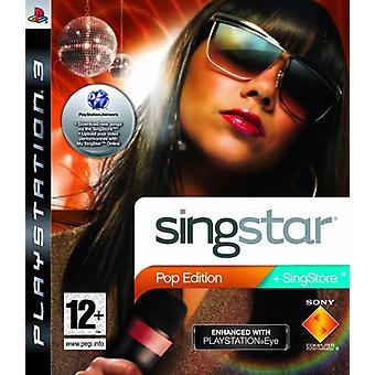 SingStar Pop Edition - PlayStation Eye Enhanced (PS3) - Uusi