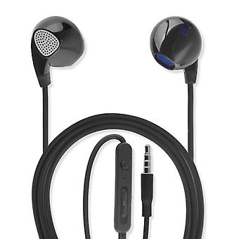 Universal in-ear stereo headset 3.5 mm audio cable 1.2 m Headphone Earphone black