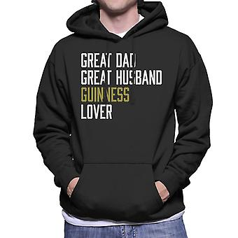 Sweat-shirt à capuche grand papa grand mari Guinness amant masculin