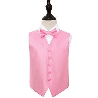 Baby rosa greske viktige bryllup vest & tversoversløyfe sett for gutter