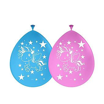 Jednorożec strony balony balon 8 sztuk Unicorn Unicorn ozdobę