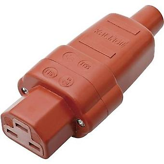 Kalthoff 444Si Hot wire connector 444 Series (mains connectors) 444 Socket, straight Total number of pins: 2 + PE 16 A Red 1 pc(s)