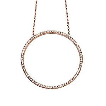 Circle of Life Necklace gold rose plated on silver