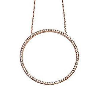 Kreis des Lebens Halskette gold Rose auf Silber vergoldet