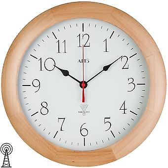 Radio controlled wall clock radio controlled wall clock wall clock radio housing solid wood beech mineral glass