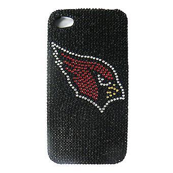 Unlimited Cellular NFL Glitz Case for Apple iPhone 4/4S (Full Diamond Crystal, Arizona Cardinals)