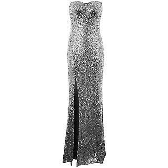 Panie Celeb Amy Childs inspirowane cekinów Side Split Boobtube kobiet sukienka Maxi