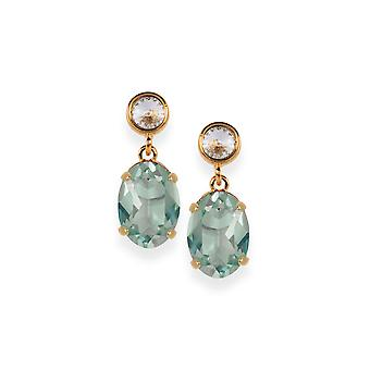 Chyrsolite earrings with Crystals from Swarovski 4609