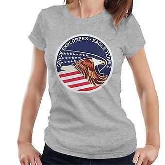 Camiseta de la NASA STS 51I lanzadera de espacio descubrimiento misión parche mujeres