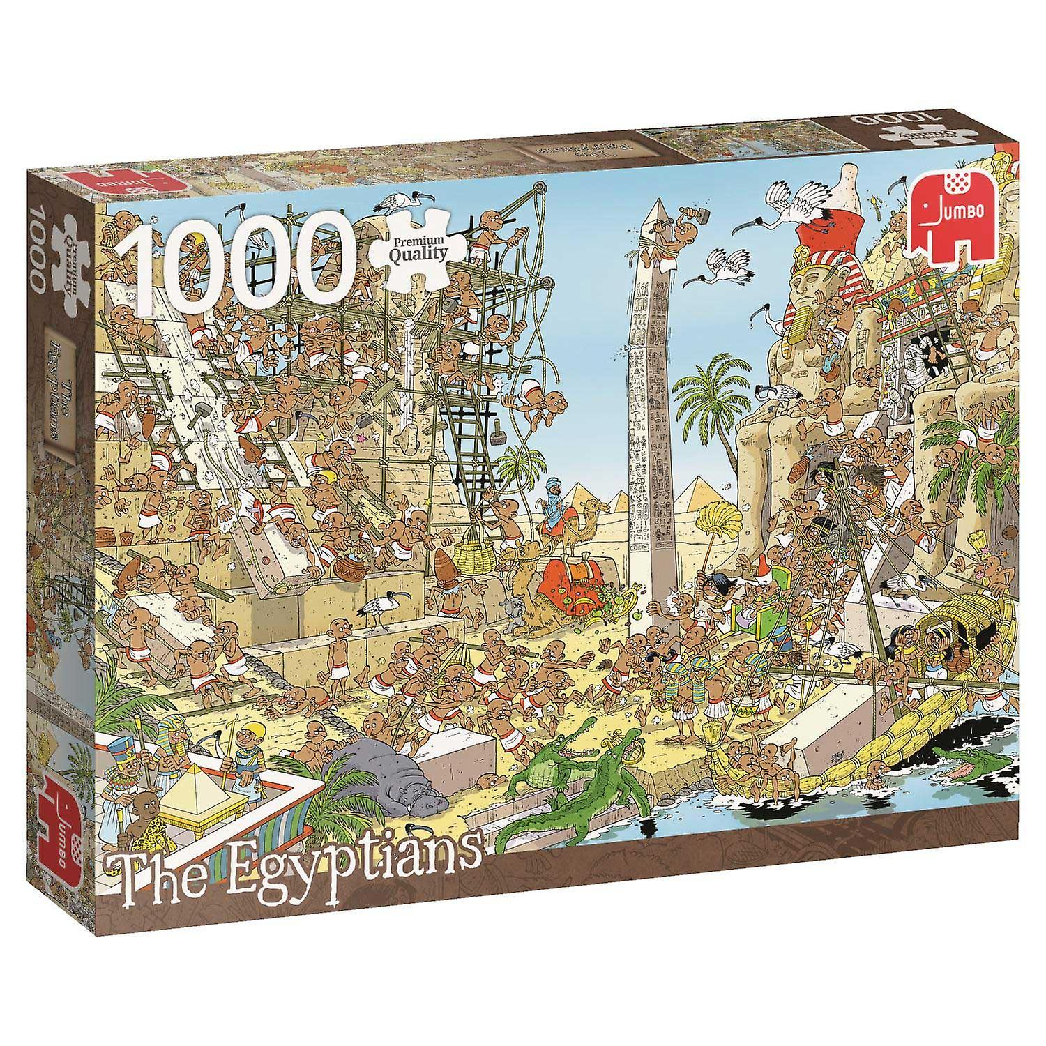 Jumbo Pieces Of History The Egyptians Premium Jigsaw Puzzle (1000 Pieces)