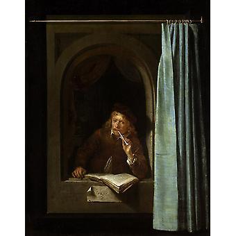 Zelfportret, Gerard Dou, 48x37cm