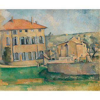 ジャス・ド・ブッファンの家と農場、ポール・セザンヌ、60x73cm