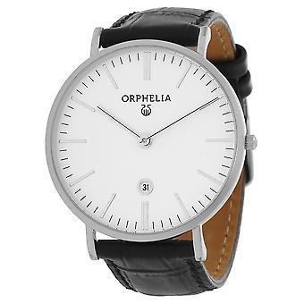 ORPHELIA メンズ アナログ腕時計シンプル黒革 OR61506