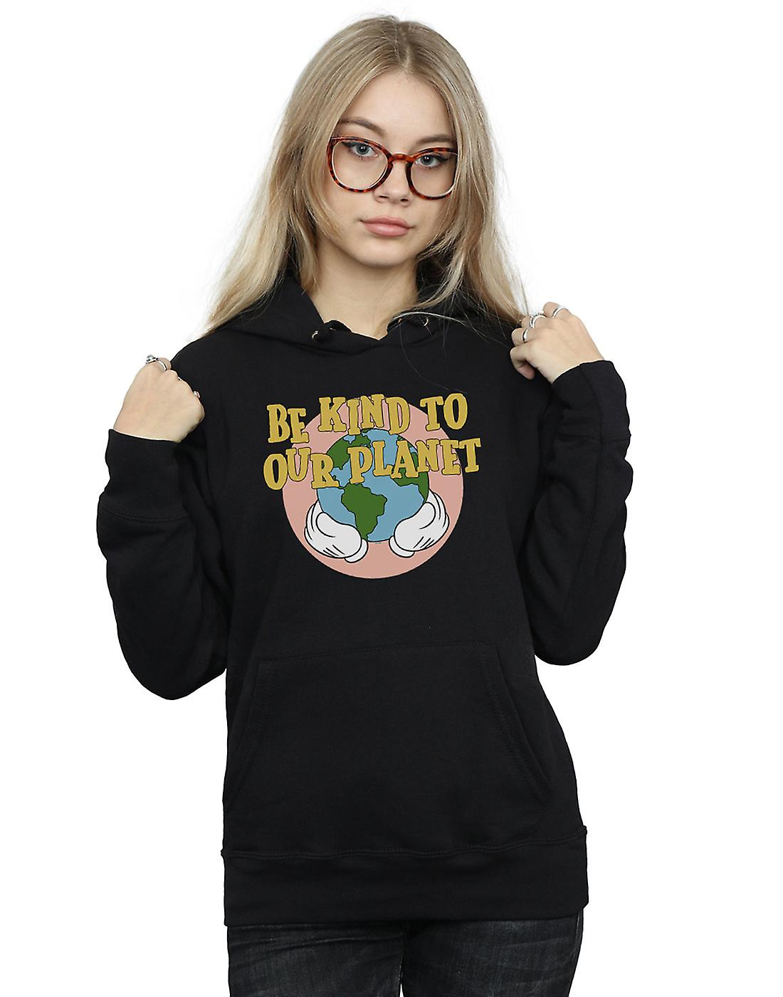 Disney Women's Mickey Mouse Be Kind To Our Planet Hoodie