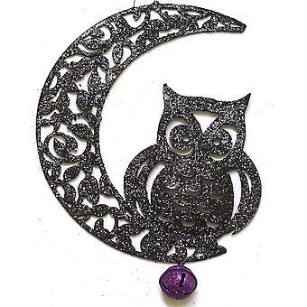 Gisela Graham Ornament 90092 Moon Hanging Owl Gisela Graham 90092