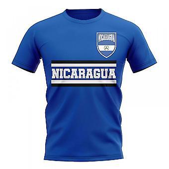 Nicaragua Kern Fußball Land T-Shirt (blau)