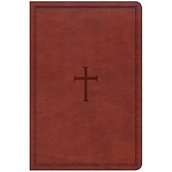 CSB Large Print Personal Size Reference Bible, Brown� Leathertouch, Indexed