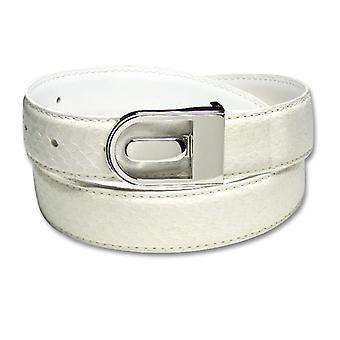 Genuine Snake Skin Bonded Leather Belt