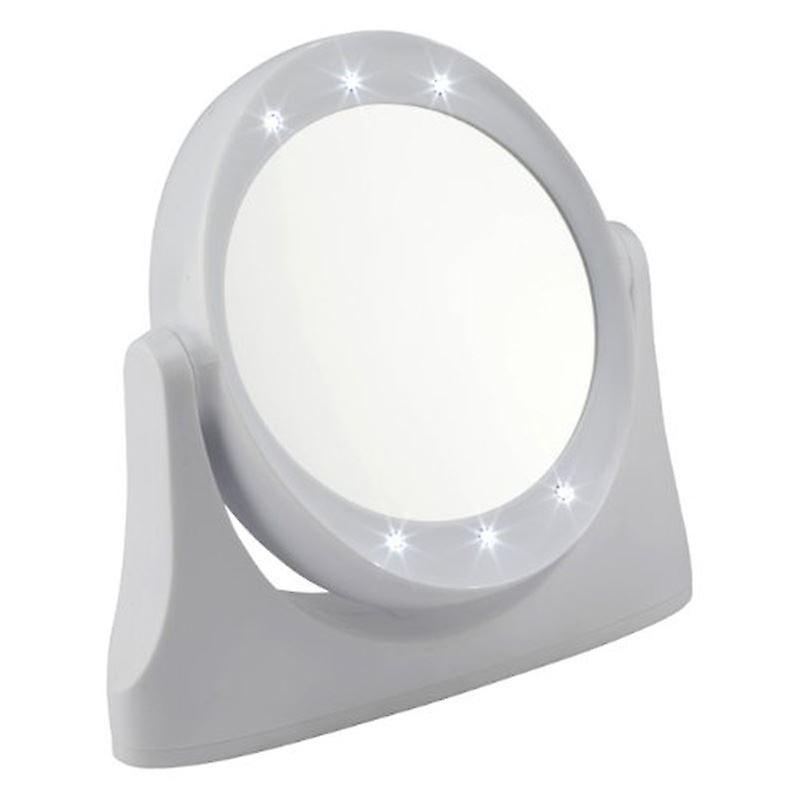 LED 10x Magnifying Makeup or Shaving Vanity Mirror - White