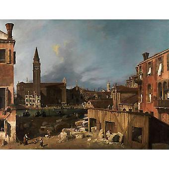 Campo San Vital und Santa Maria della Carita, Canaletto, 50x40cm