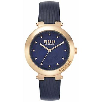 Versus Versace | Ladies Blue Leather Strap | Rose Gold Case | VSPLJ0419 Watch