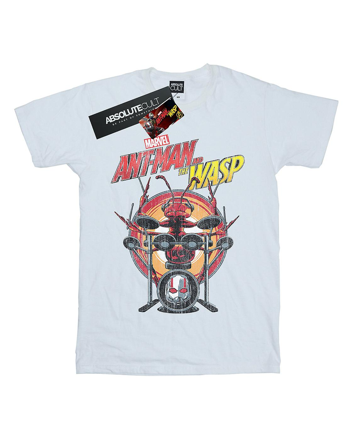 Marvel Women's Ant-Man And The Wasp Drummer Ant Boyfriend Fit T-Shirt